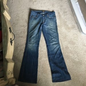 7 For All Mankind Jeans - 7 jeans flare style w/rhinestone pockets